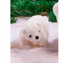 Ours polaire en polyester - L 18 cm - Blanc