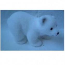 Décoration a poser - Ours Blanc - A 4 Pattes de 21 cm