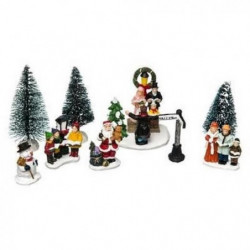 Figurines de Noël Sapin avec Santons
