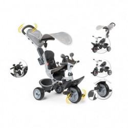 SMOBY Tricycle Evolutif Baby Driver Confort Gris