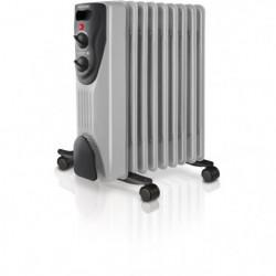 Radiateur a bain d'huile DAKAR 1500 W gris et noir