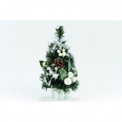 Sapin de table enneigé de Noël en PVC - H 30 cm