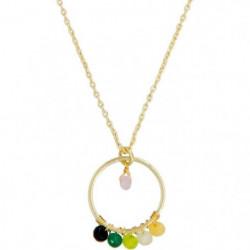 "Collier ""Cerla"" Jade multicolore"