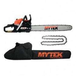 MYTEK Pack tronçonneuse - 60cm - 62cc + Chaîne et housse