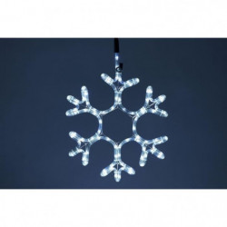 Flocon lumineux 90 LEDS - 40 cm - Blanc - Tube L 3 m x Ø 11 cm
