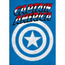 Poster métallique Marvel Emblems : Captain America