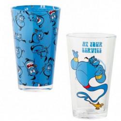 Set de 2 verres Funko Disney : Aladdin - At Your Service