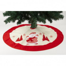 Robe sapin Pere Noël en feutrine - Ø 37 cm - Rouge vichy