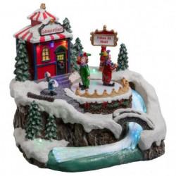 Village de Noël Cirque Lumineux et Animé