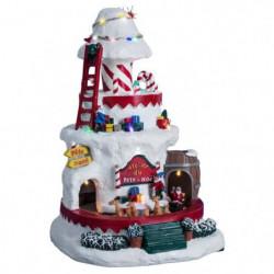 Village de Noël Lutin sur un Champignon Géant lumineux