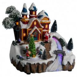 Village de Noël Maisons lumineuses Animées et Musicales