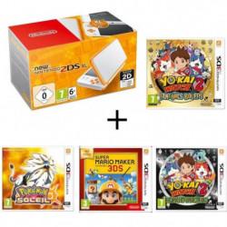 New 2DS XL  + Yo-Kai Watch 2 : Fantômes Bouffis + Pokémon Soleil