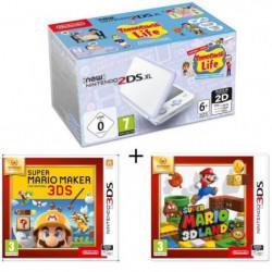New 2DS XL Blanc/Lavande + Super Mario Maker + Super Mario 3D Land