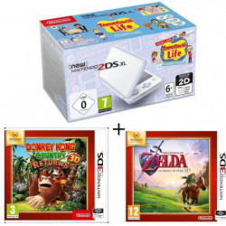 New 2DS XL Lavande/Blanc + Donkey Kong Country Returns + …