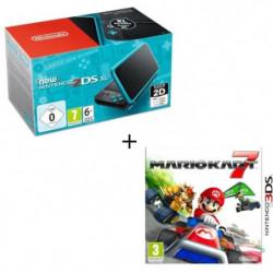 New Nintendo 2DS XL Noire et Turquoise + Mario Kart 7