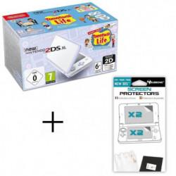 Pack New 2DS XL Blanc/Lavande + Tomodachi Life + Ecran