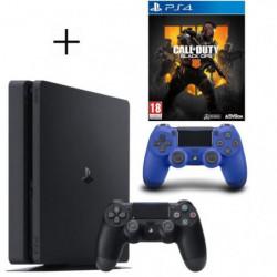Pack PS4 500 Go Noire + Manette PS4 DualShock 4 Bleu V2 + …