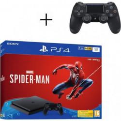 Pack PS4 1 To Noire + Marvel's Spider-Man + 2eme manette