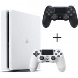 Pack PS4 500 Go Blanche + 2eme manette DualShock 4 Noire + …