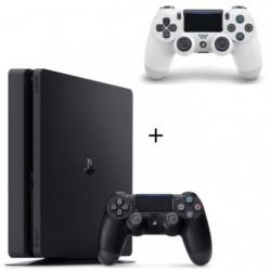 Pack PS4 500 Go Noire +  2eme Manette DualShock 4 V2 Glacier