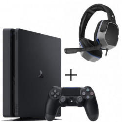 PS4 500 Go Noire + Casque Afterglow Level 3