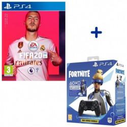 Pack PlayStation : FIFA 20 + Manette DualShock Noire V2 + …