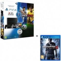 PS4 1 To Noire + PES Euro 2016 Jeu PS4 + 2eme manette DS4
