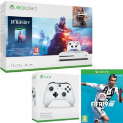 Xbox One S 1 To Battlefield V + Fifa 19 + manette