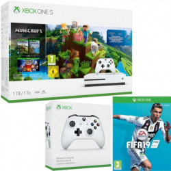 Xbox One S 1 To Minecraft + Fifa 19 + manette