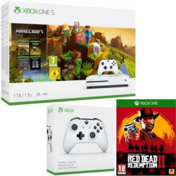 Xbox One S 1 To Minecraft Creators + Red Dead Redemption 2