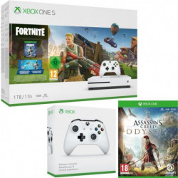 Xbox One S 1 To Fortnite + Assassin's Creed Odyssey + …