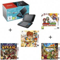 4 jeux + console New Nintendo 2DS XL Noire&Turquoise + …
