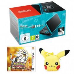 New Nintendo 2DS XL Noire et Turquoise + Pokémon Soleil Jeu3DS