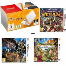 New 2DS XL Blanche et Orange + Monster Hunter 4 Ultimate + …