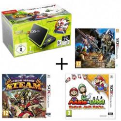 New DS XL Noir et Citron + Monster Hunter 4 Ultimate + Mario