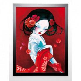 SYBILE Image encadrée Slinky 67x87 cm Rouge