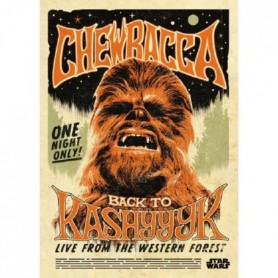 Poster métallique Star Wars Legends : Chewbacca