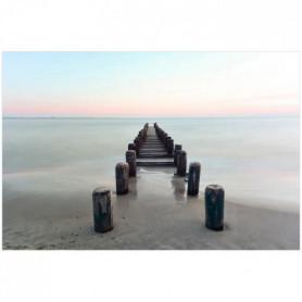 Image encadrée baguette minimaliste Quai plage