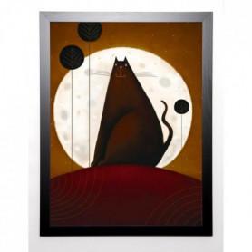 PARRY Image encadrée Cat and the Moon I 67x87 cm