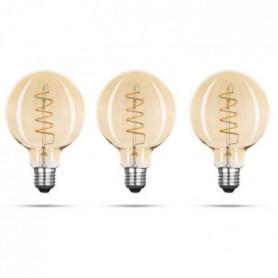 XQ-LITE Lot de 3 ampoules filament LED E27
