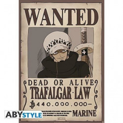 Poster One Piece - Wanted Law roulé filmé (98x68) - ABYstyle