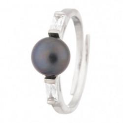PERLINEA Bague Argent 925° et Perle de Culture Oxydes de