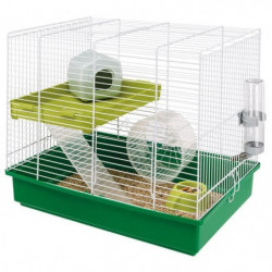FERPLAST Cage Hamster Duo - 46x29x37,5 cm - Blanc - Pour hamster