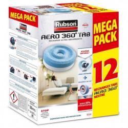 RUBSON PROMO MEGA PACK Lot de 12 recharge Aero 360 Neutre