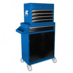 DOMAC Servante d'atelier 7 tiroirs en métal avec bac de