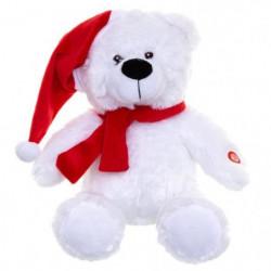 Veilleuse Musicale et Lumineuse Ours Blanc Chapeau - Rouge - 8