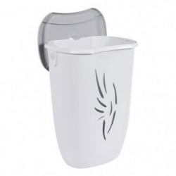 EDA PLASTIQUE Coffre a linge Flora 40 L - Blanc cérusé - 40 x 30