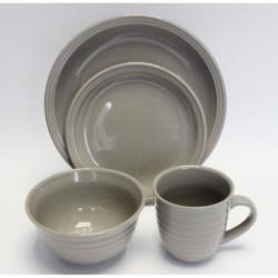 Service de Table Prescillia 48 pieces en grés gris