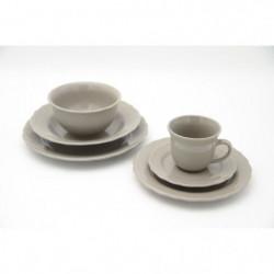 Service de table - 24 pieces - Collection Patrimo - Gris