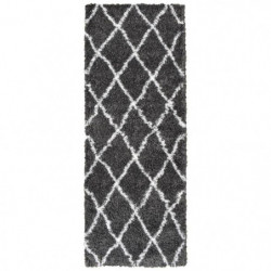ASMA Tapis de couloir Shaggy - Style berbere - 67 x 180 cm